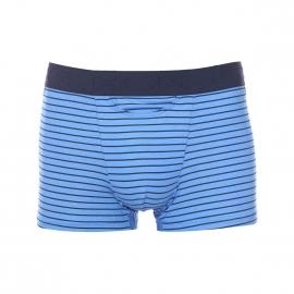 Boxer ouvert HO1 Miles Hom en modal mélangé bleu à rayures bleu marine