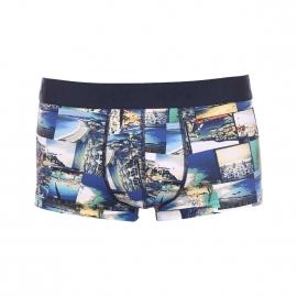 Shorty Riviera Hom en polyamide stretch à motifs photos de vacances
