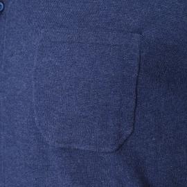 Chemise en maille Illico Harris Wilson bleu marine chiné