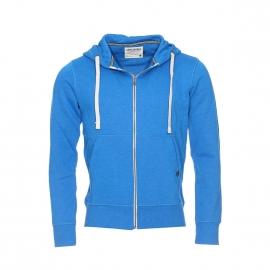 Sweat zippé à capuche Originals by Jack&Jones en coton bleu roi