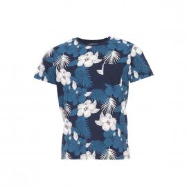 Tee-shirt Jack&Jones en coton bleu marine à motifs tropicaux