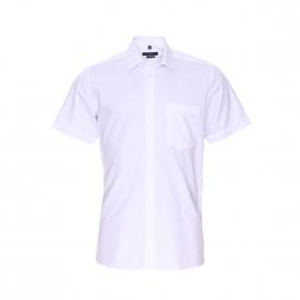 Chemise manches courtes Jean Chatel en coton blanc, à poche poitrine