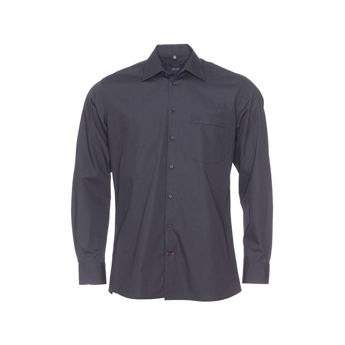 Chemise droite  noire, repassage facile