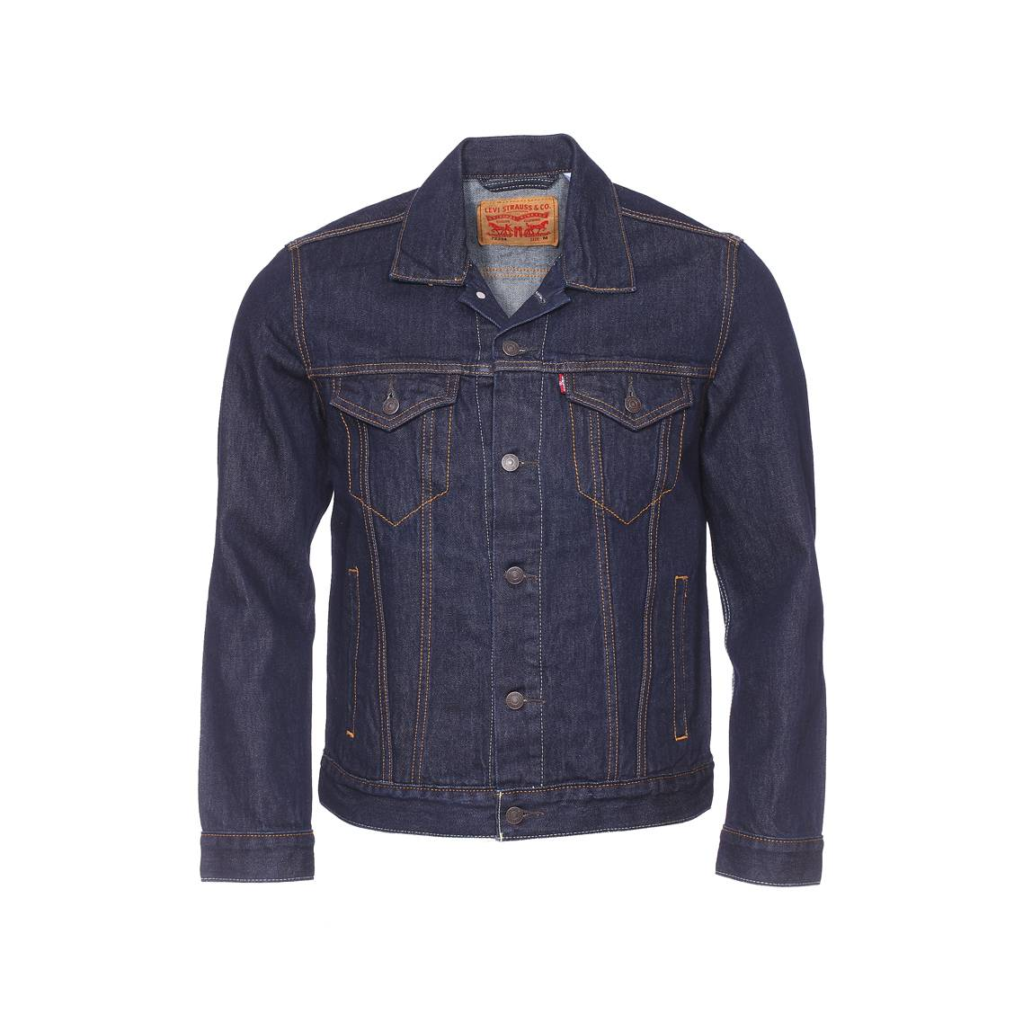 veste en jean trucker levi 39 s bleu fonc rue des hommes. Black Bedroom Furniture Sets. Home Design Ideas