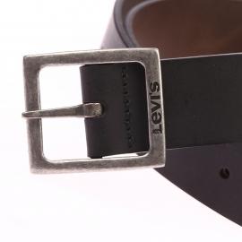 Ceinture Levi's Hardware noire réservible marron