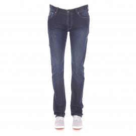 Jean coupe droite confort MCS en coton élastique bleu foncé