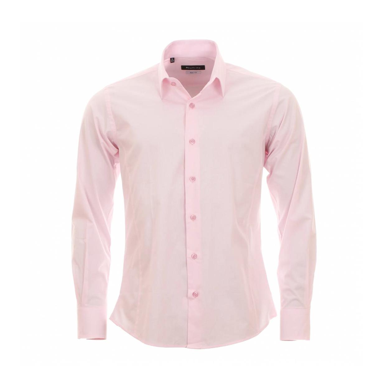 Chemise homme cintrée  rose