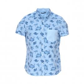 Chemise manches courtes Charlys Meltin'Pot en coton bleu clair à fleurs
