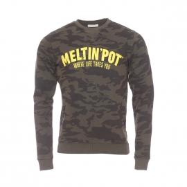 Sweat Fiandro Meltin'Pot en coton à motif camouflage kaki
