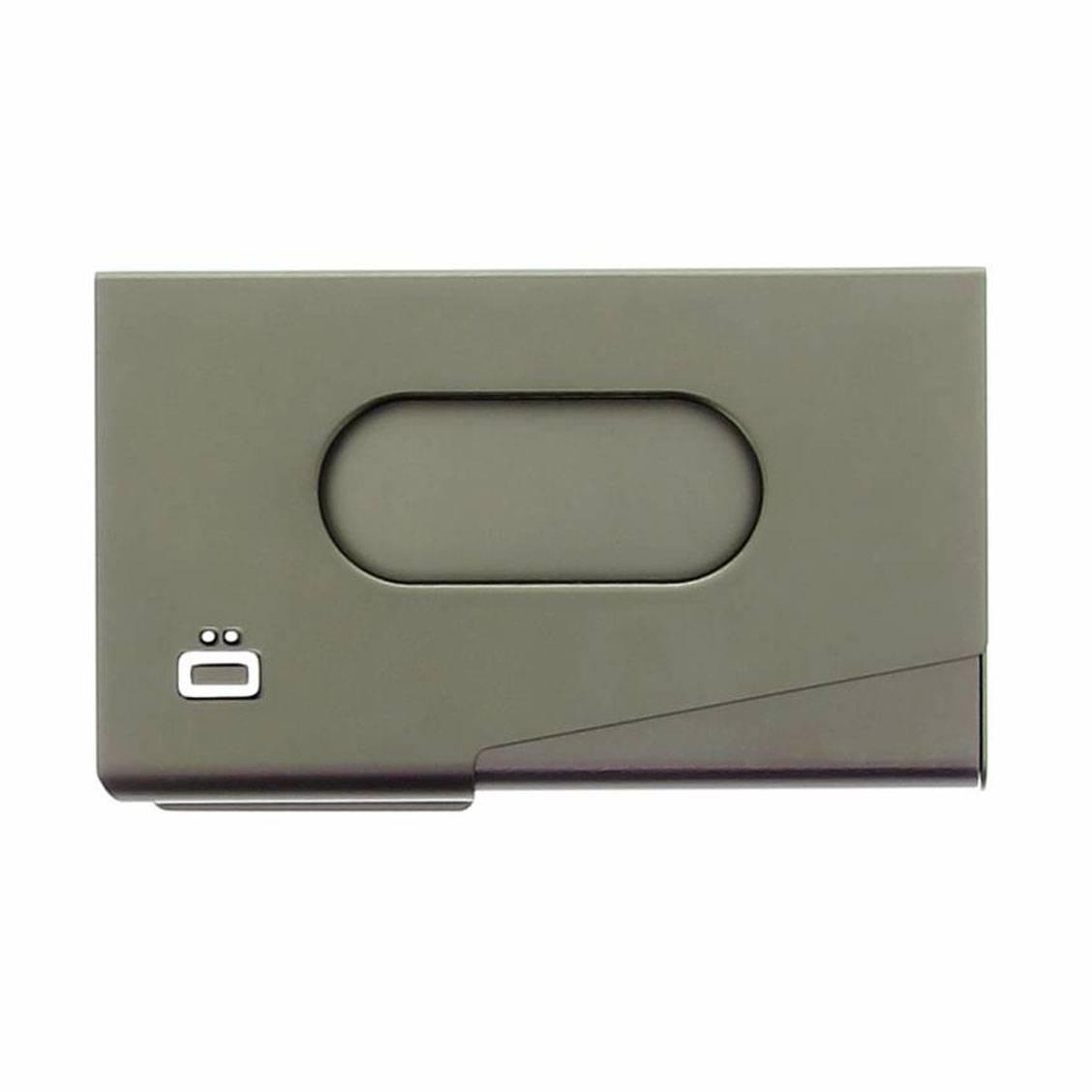 gon Porte-cartes de visite en aluminium One Touch Noir WjdCF8