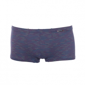 Shorty Minipants Olaf Benz en microfibre bleu marine à fines rayures multicolores