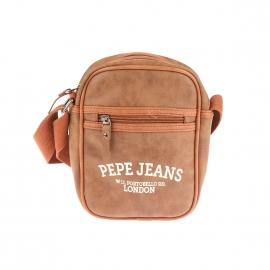 Sacoche à bandoulière Pepe Jeans en simili cuir camel