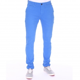 Pantalon chino Petrol Industries en coton stretch bleu roi