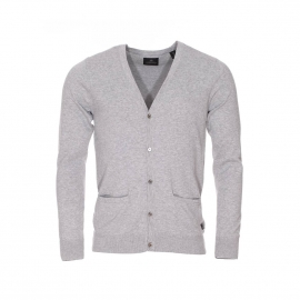 Cardigan Scotch & Soda en coton gris clair
