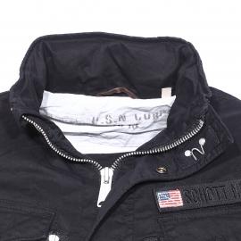 Blouson esprit militaire Schott NYC en coton noir