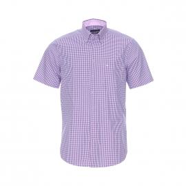 Chemise manches courtes Splendesto Seidensticker à carreaux bleus, rouges et blancs, sans repassage