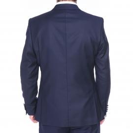 Veste de costume cintrée One Mylo SH Logan Selected Logan bleu marine, col satiné façon smoking