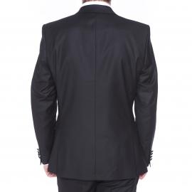 Veste de costume cintrée One Mylo SH Logan Selected Logan noire, col satiné façon smoking