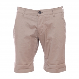 Short chino Selected en coton stretch beige