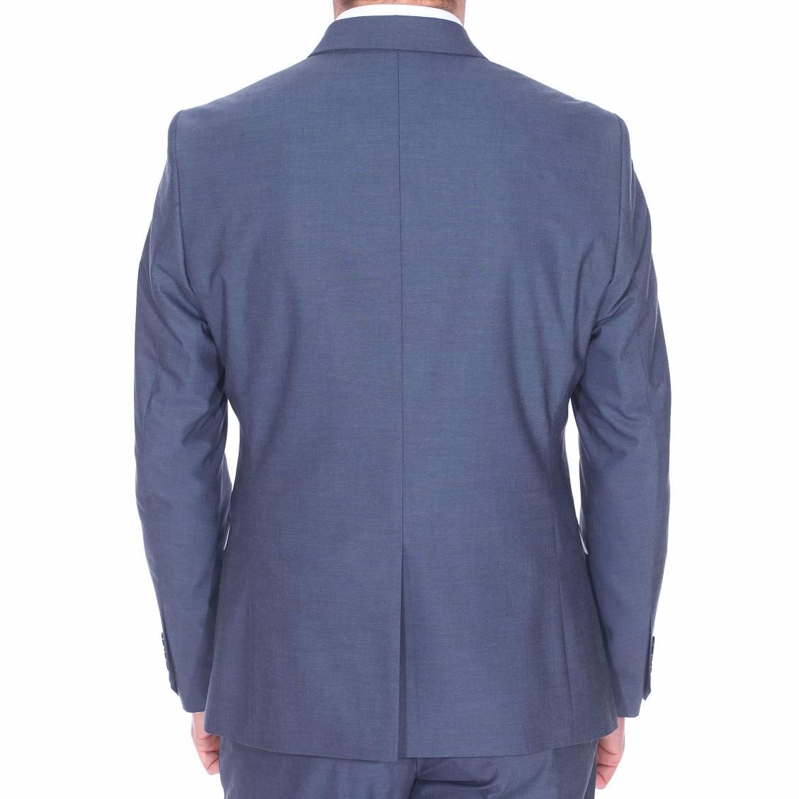 veste de costume cintr e noxjack selected bleu gris rue des hommes. Black Bedroom Furniture Sets. Home Design Ideas