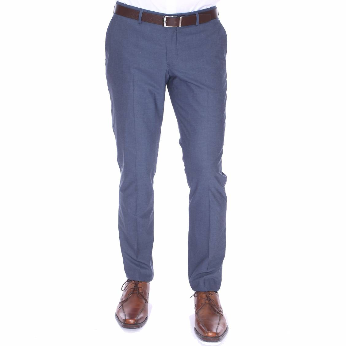 Pantalon de costume noxjack selected bleu grisé