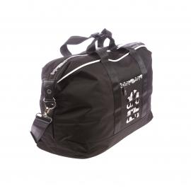 Sac week-end Rugby League Serge Blanco en tissu noir, logo camouflage