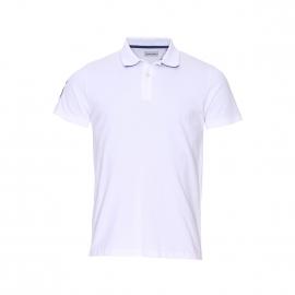 Polo Serge Blanco blanc en maille piquée blanche brodé au dos