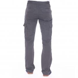 Pantalon cargo TBS Fupcot gris anthracite à ceinture élastiquée