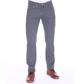 Jean droit Pierre Cardin en coton stretch bleu grisé