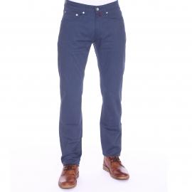 Pantalon droit Pierre Cardin en coton stretch bleu foncé