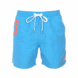 Short de bain Miami Waterpolo Superdry bleu azur