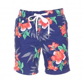 Short de bain Superdry Honolulu bleu marine à motifs tropicaux
