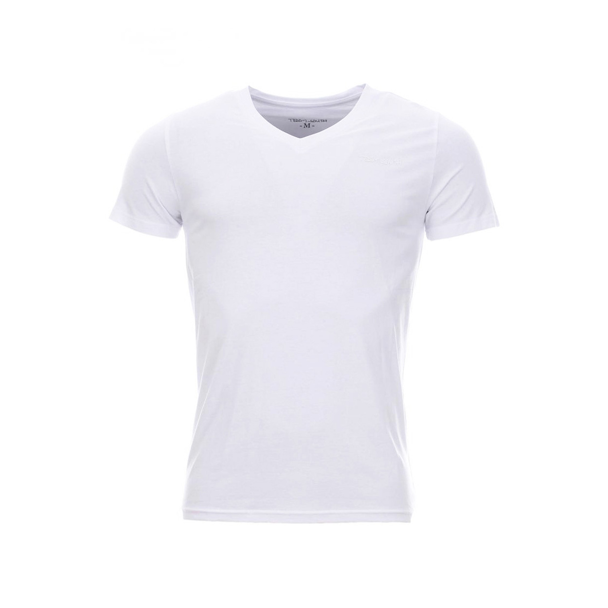 Tee-shirt à col v tawax  en coton blanc