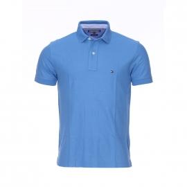 Polo Performance Tommy Hilfiger en maille piquée bleu azur