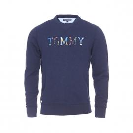 Sweat Tommy Hilfiger en coton bleu marine à imprimé tropical