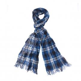 Chèche Oakwell Tommy Hilfiger en coton à bleu à carreaux noirs et blancs