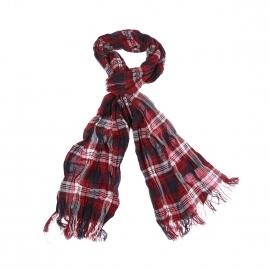 Chèche Oakwell Tommy Hilfiger en coton à rouge à carreaux noirs et blancs