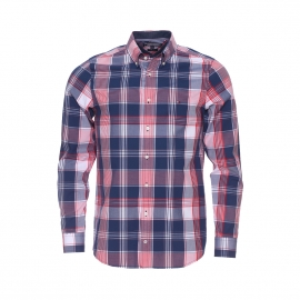 Chemise ajustée Hutton Tommy Hilfiger à carreaux bleu marine, rouges et blancs