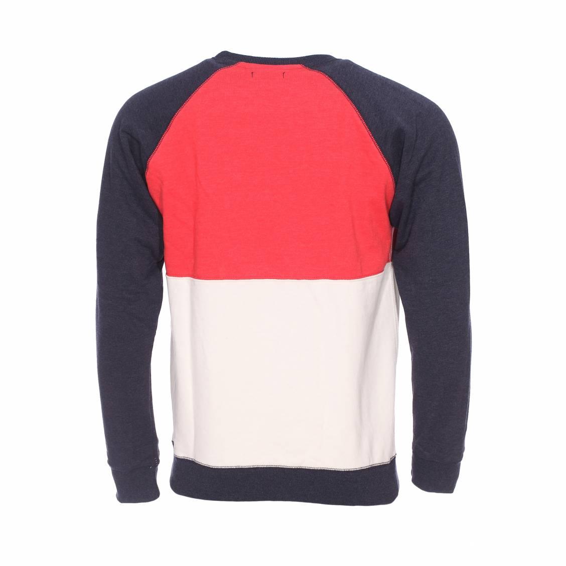 38ba82531b1c ... Sweat Icon Tommy Hilfiger en coton bleu marine rouge pale et creme