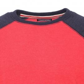 Sweat Icon Tommy Hilfiger en coton bleu marine, rouge pâle et crème