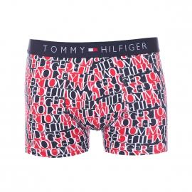 Boxer Tommy Hilfiger en coton stretch bleu marine et rouge monogrammé