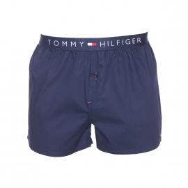Caleçon Tommy Hilfiger en popeline bleu marine