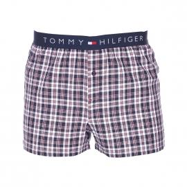 Caleçon Tommy Hilfiger en twill à carreaux blancs, bleu marine et rouges