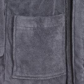 Peignoir de bain Tommy Hilfiger en coton gris, col châle