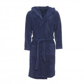 Peignoir de bain à capuche Tommy Hilfiger en coton bleu marine