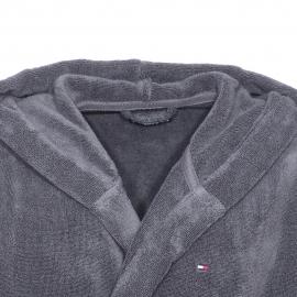Peignoir de bain à capuche Tommy Hilfiger en coton gris
