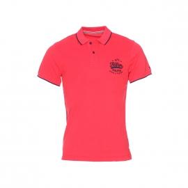 Polo Tommy Hilfiger en jersey de coton rouge brodé