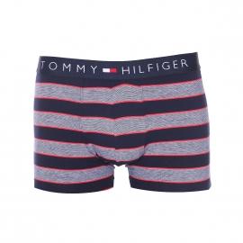 Boxer Tommy Hilfiger en coton stretch bleu marine à rayures blanches bordées de rouge