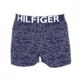 Caleçon Tommy Hilfiger en popeline bleu marine à motifs graphiques blancs