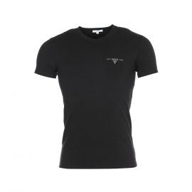 Tee-shirt col V Guess Noir